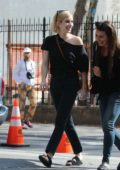Emma Roberts and Lea Michele spotted having a chat while out and about in Soho, New York