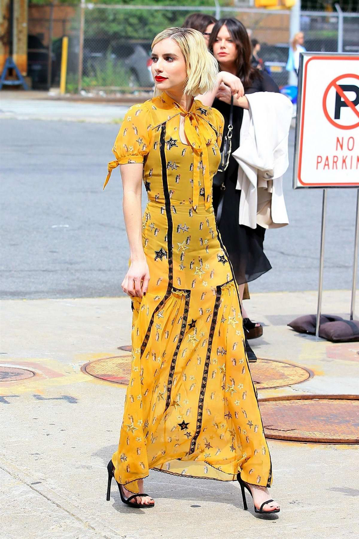 Emma Roberts In A Yellow Dress Attends The Coach Fashion Show In New York City 120917 7