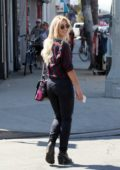 Emma Slater on her way to the dance studio in Los Angeles