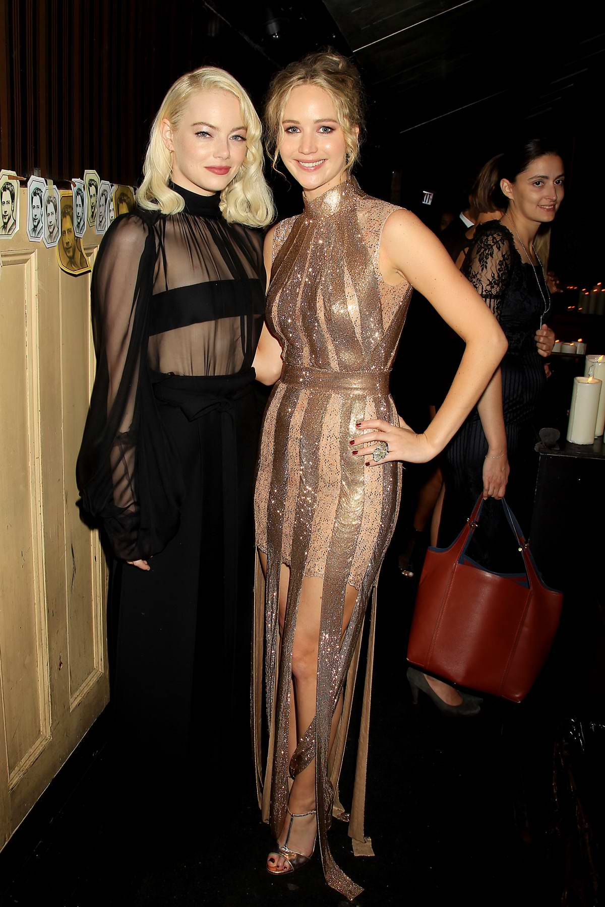 Emma Stone and Jennifer Lawrence at the 'Mother!' premiere after-party in New York