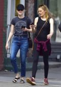 Emma Stone is spotted out on a stroll with a friend in New York City