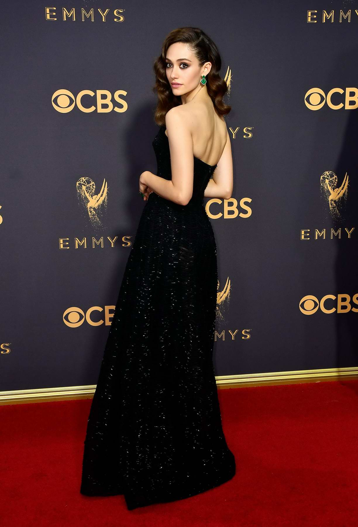 Emmy Rossum at 69th Annual Primetime EMMY Awards held at Microsoft Theater in Los Angeles