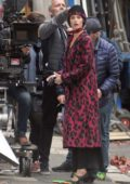 Gemma Arterton filming a scene with Elizabeth Debicki on the set of 'Vita and Virginia' in Dublin, Ireland