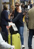 Gemma Atkinson arriving back into Manchester Piccadilly train station after Strictly Come Dancing rehearsals in London