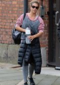 Gemma Atkinson spotted leaving work with co-host Mike Toolan in Manchester, UK