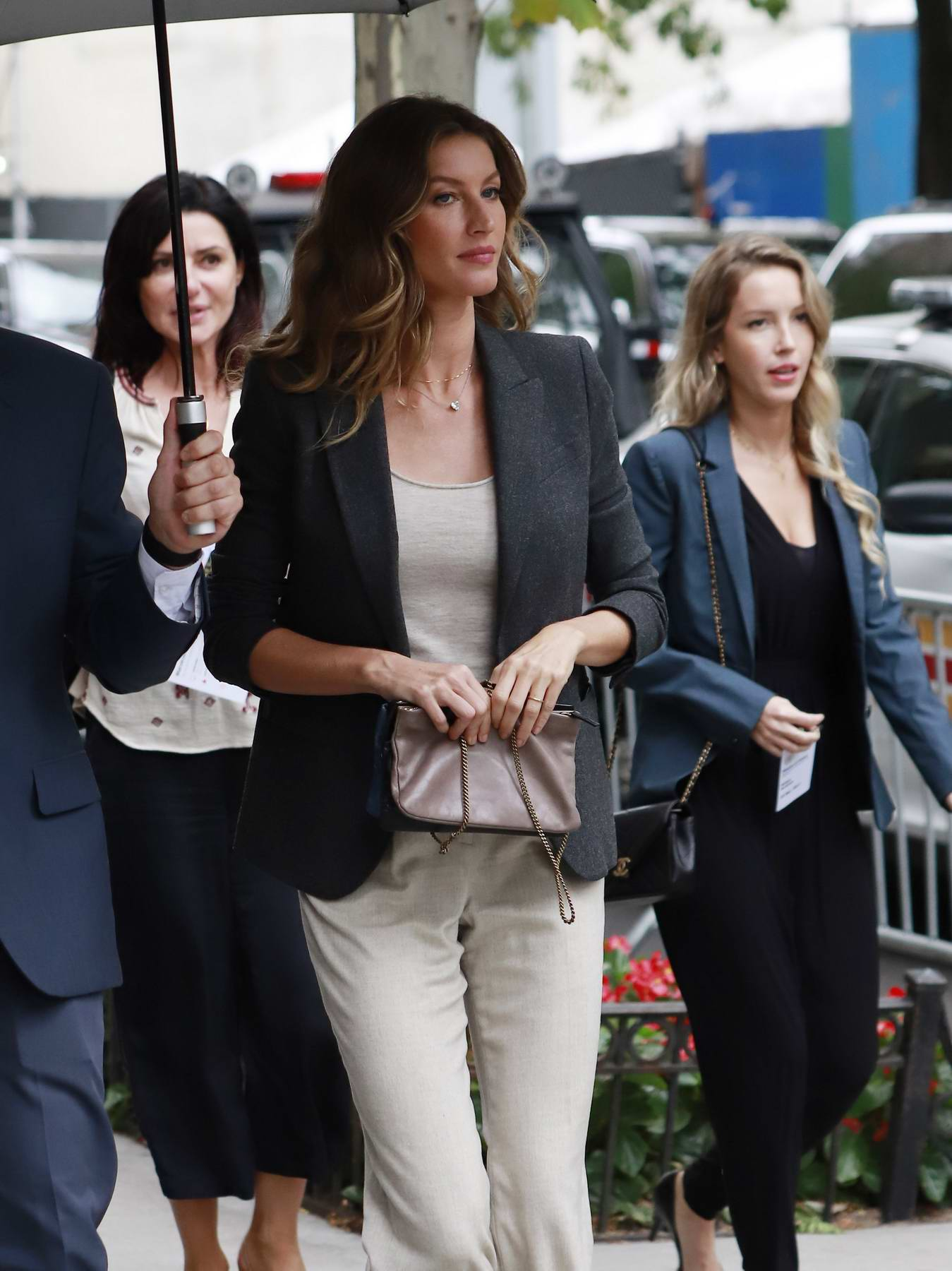 Gisele Bundchen arrives to attend meetings at the United Nations in New York City