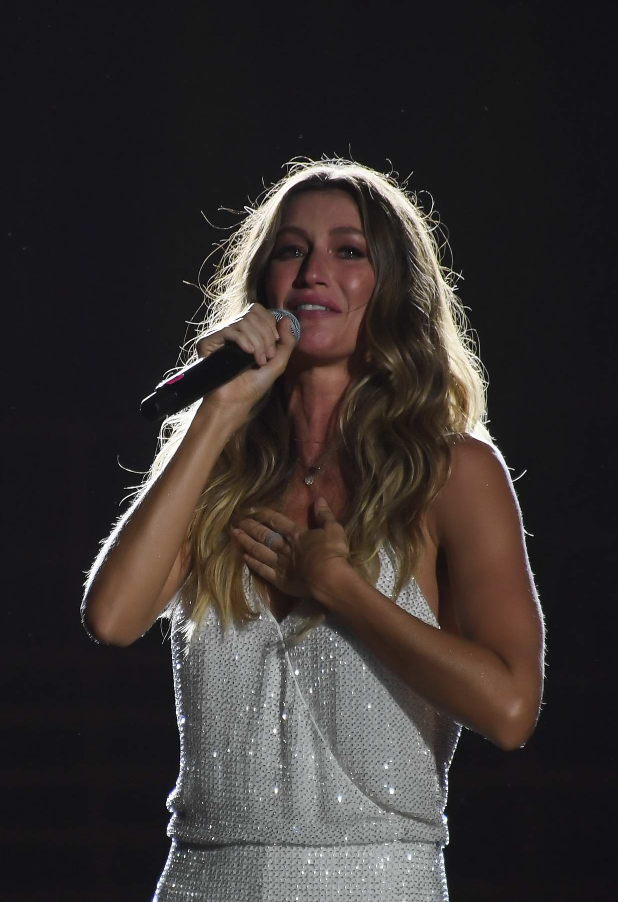 Gisele Bundchen at Rainforest Conservation at the World Stage on the first day of 'Rock in Rio' in Rio de Janeiro, Brazil