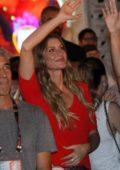 Gisele Bundchen enjoying Latin-American Icon Ivete Sangalo's Rock in Rio show in Rio de Janeiro, Brazil