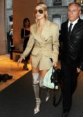 Hailey Baldwin arriving for a show during Milan Fashion Week, Italy