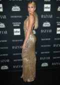 Hailey Baldwin at the Harper's Bazaar ICONS party at New York Fashion Week