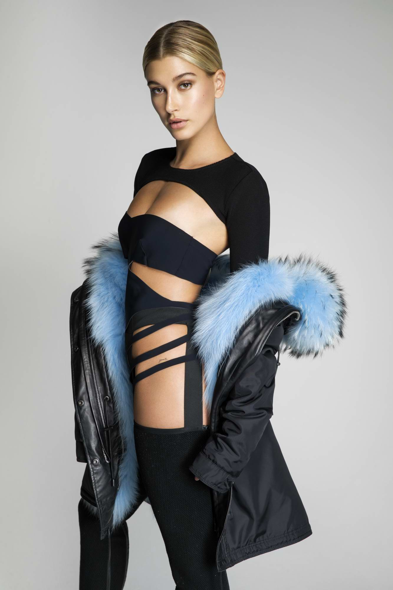 Hailey Baldwin photoshoot for Nicole Benisti Autumn-Winter 2017 Campaign, September 2017