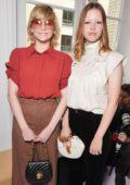Haley Bennett & Mia Goth at Chloe Show, front row during spring summer 2018 Paris Fashion Week, France