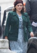 "Hayley Atwell and Ewan McGregor spotted filming scenes for Disney's ""Christopher Robin"" in Gravesend, Kent, UK"