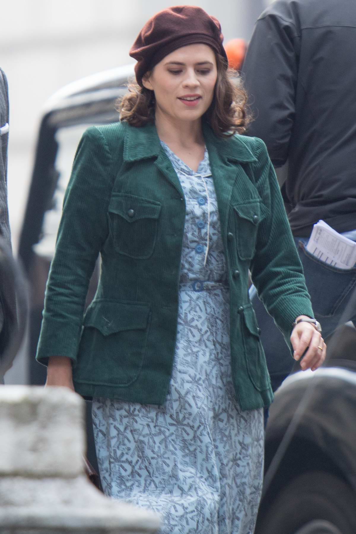 """Hayley Atwell and Ewan McGregor spotted filming scenes for Disney's """"Christopher Robin"""" in Gravesend, Kent, UK"""