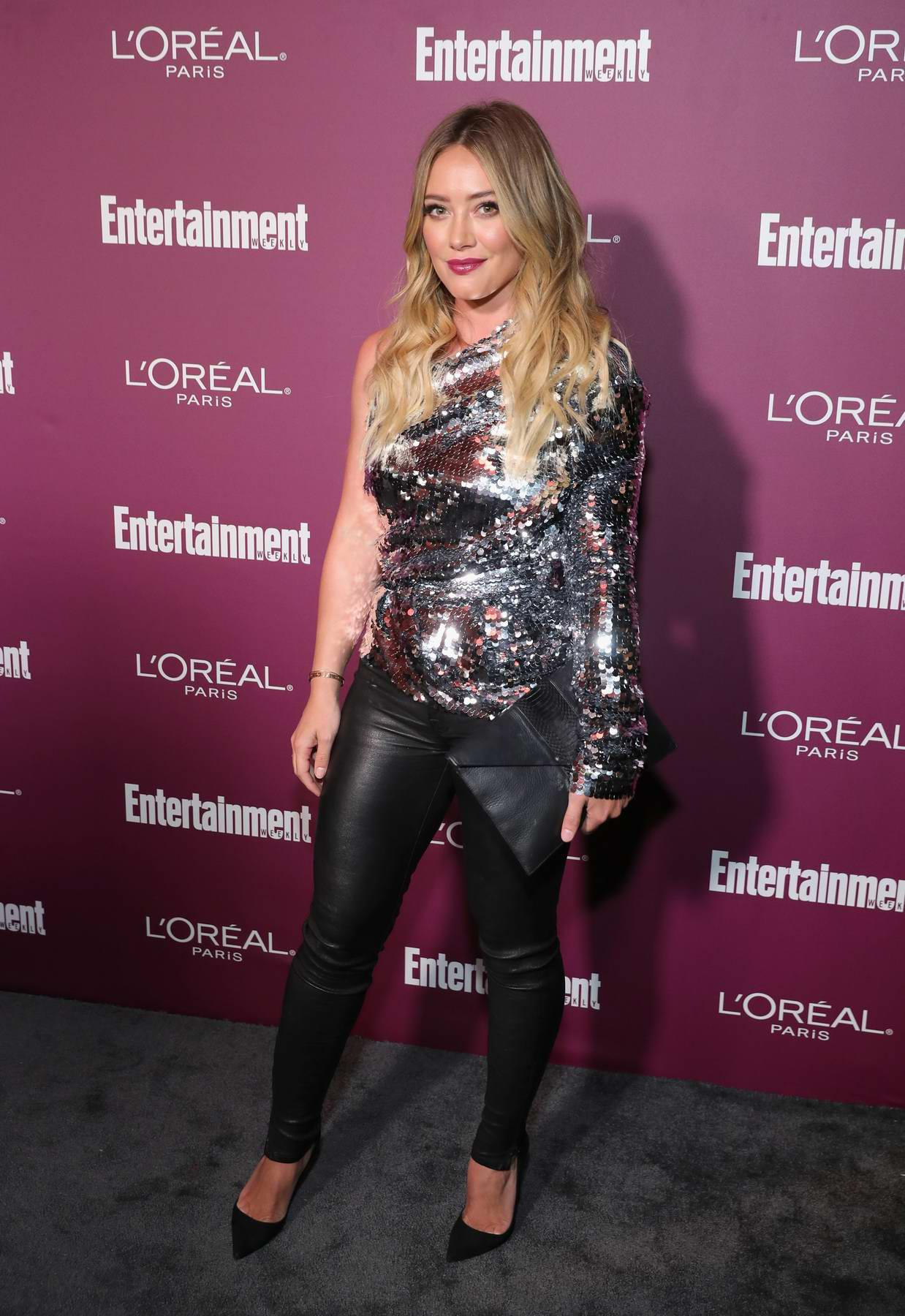Hilary Duff at 2017 Entertainment Weekly Pre-EMMY party in West Hollywood, Los Angeles