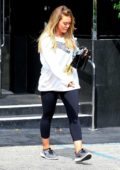 Hilary Duff shops for jewelry at XIV Karats in Beverly Hills, Los Angeles
