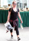 Hilary Duff spotted at the Rise Nation for a morning workout in Los Angeles