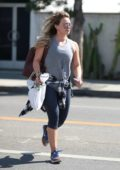 Hilary Duff spotted busy running errands in West Hollywood, Los Angeles