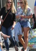 Hilary Duff spotted with sister Haylie Duff while out and about in Studio City, Los Angeles