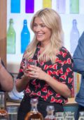 Holly Willoughby on the Sunday Brunch TV show in London