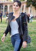 Isabeli Fontana seen during Milan Fashion Week in Milan, Italy