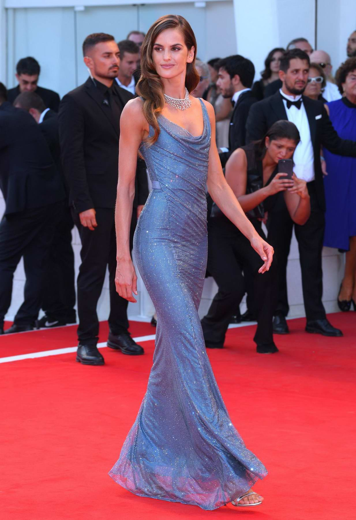 Izabel Goulart at the 'Downsizing' premiere and opening ceremony at 74th Venice Film Festival in Venice, Italy