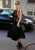 Izabel Goulart seen during Milan Fashion Week in Milan, Italy