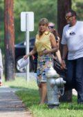 Jennifer Aniston arrives on the set of Dumplin in Jonesboro, Arkansas