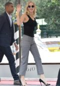 Jennifer Lawrence arrives at Lido beach for the 74th Venice Film Festival in Venice, Italy
