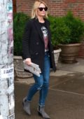 Jennifer Morrison rocks a Kurt Cobain tee while out and about in New York City