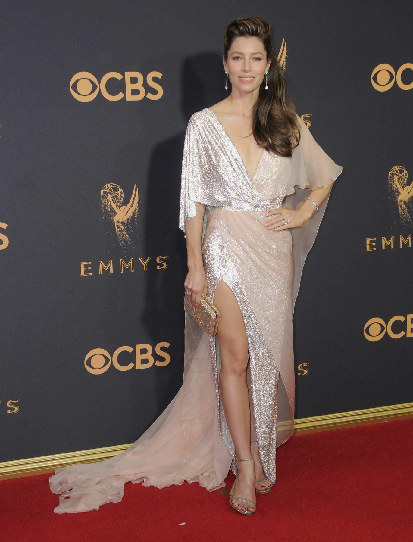 Jessica Biel at 69th Annual Primetime EMMY Awards held at Microsoft Theater in Los Angeles