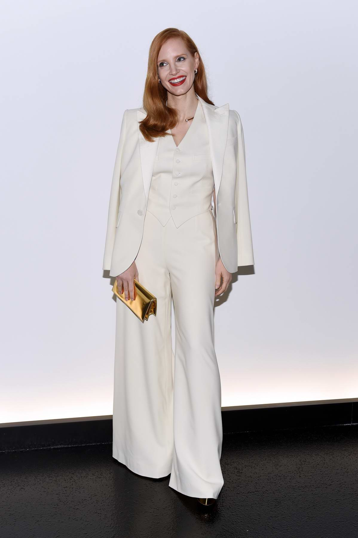 Jessica Chastain at Ralph Lauren show and Dinner, Spring Summer 2018 during New York Fashion Week