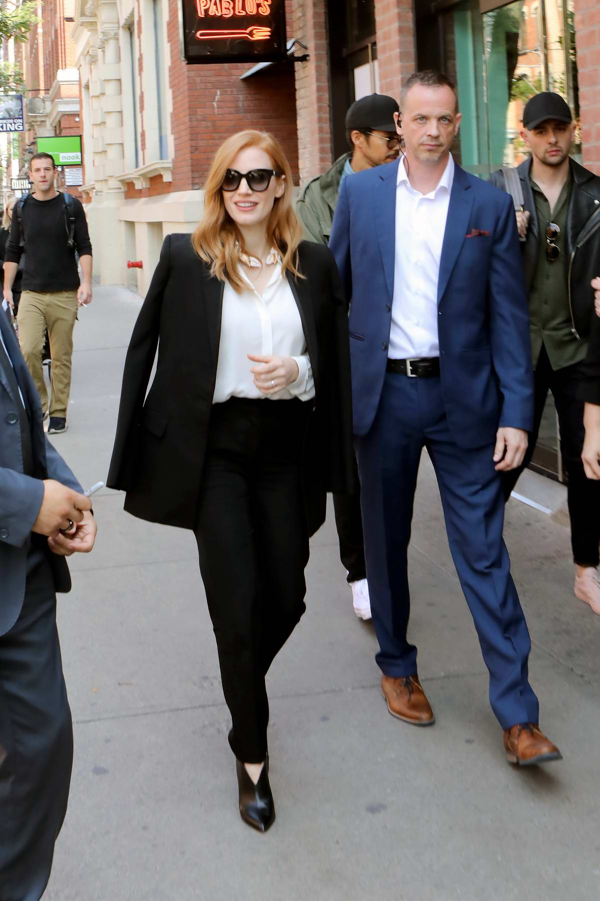 Jessica Chastain is seen out and about in Toronto, Canada