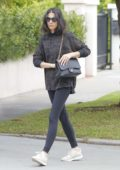 Jessica Gomes goes for breakfast with her friend in Beverly Hills, Los Angeles