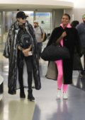 Josephine Skriver and Jasmine Tookes touch down at LAX Airport in Los Angeles