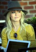 Julianne Hough grabs coffee with some friends at Alfred Coffee in Los Angeles