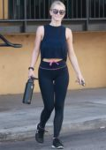 Julianne Hough leaving after enjoying a workout at Tracy Anderson gym in Studio City, Los Angeles