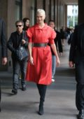 Karlie Kloss arriving for an event during Milan Fashion Week, Italy