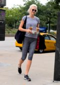 Karlie Kloss makes a morning coffee run in New York City