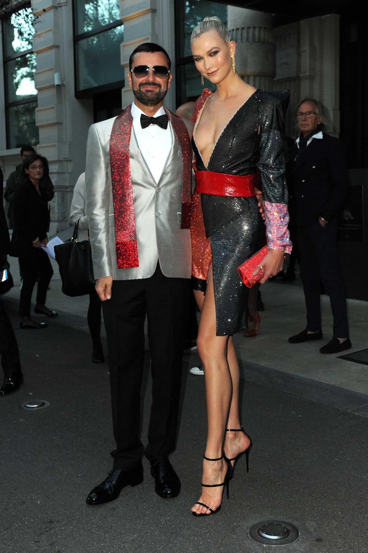 Karlie Kloss seen leaving her hotel in Milan, Italy