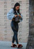 Karrueche Tran leaves lunch in leggings at Sugarfish in Los Angeles