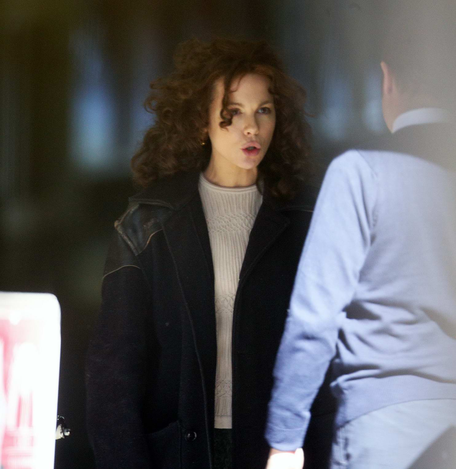 Kate Beckinsale dressed down with frizzy hair while filming new movie 'Farming' in London