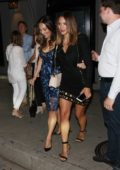 Katharine McPhee and David Fosters leave Craigs restaurant after having dinner together in West Hollywood, Los Angeles
