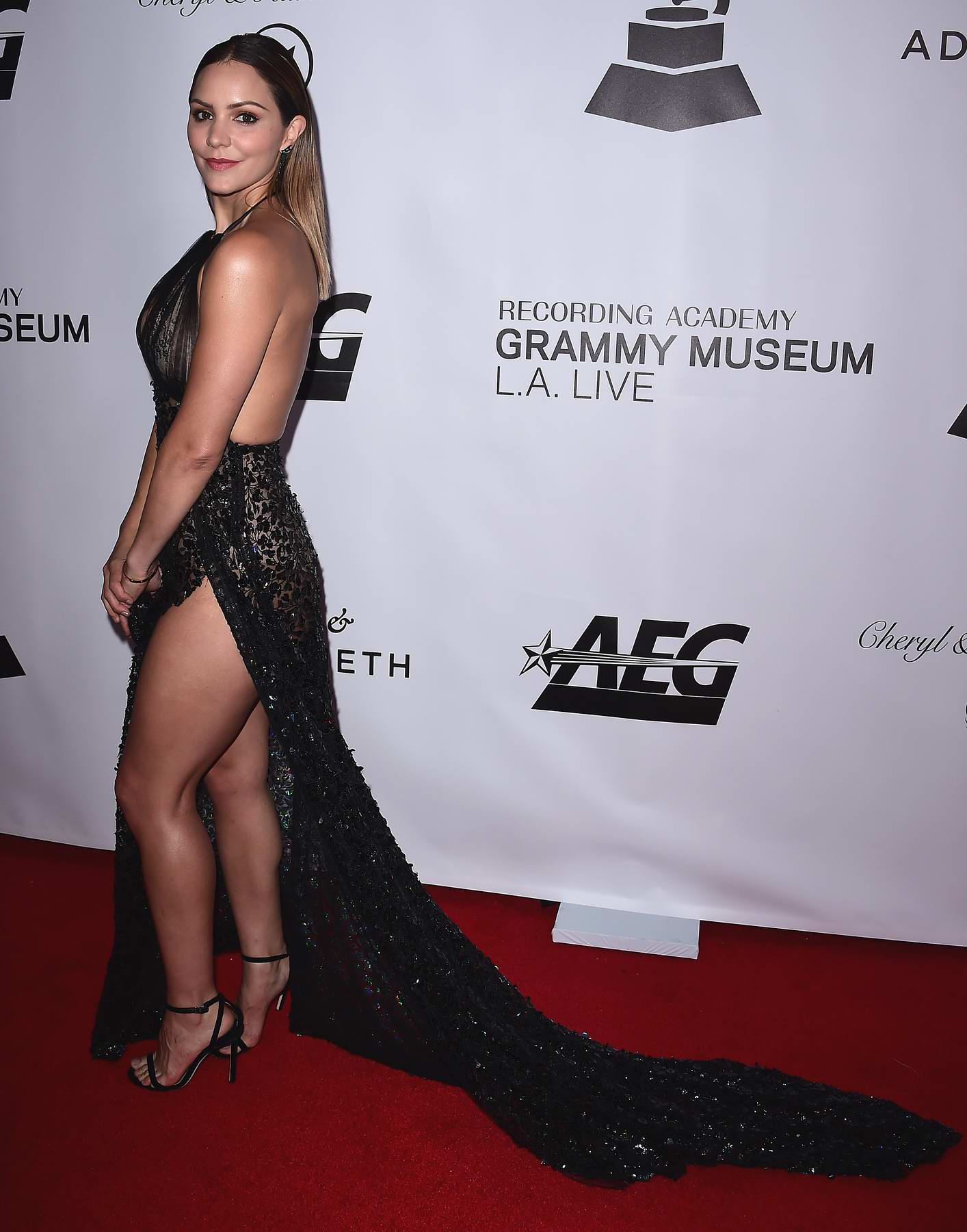Katharine McPhee at the 2017 Grammy Museum Gala honoring David Foster at the Novo in Westwood, California