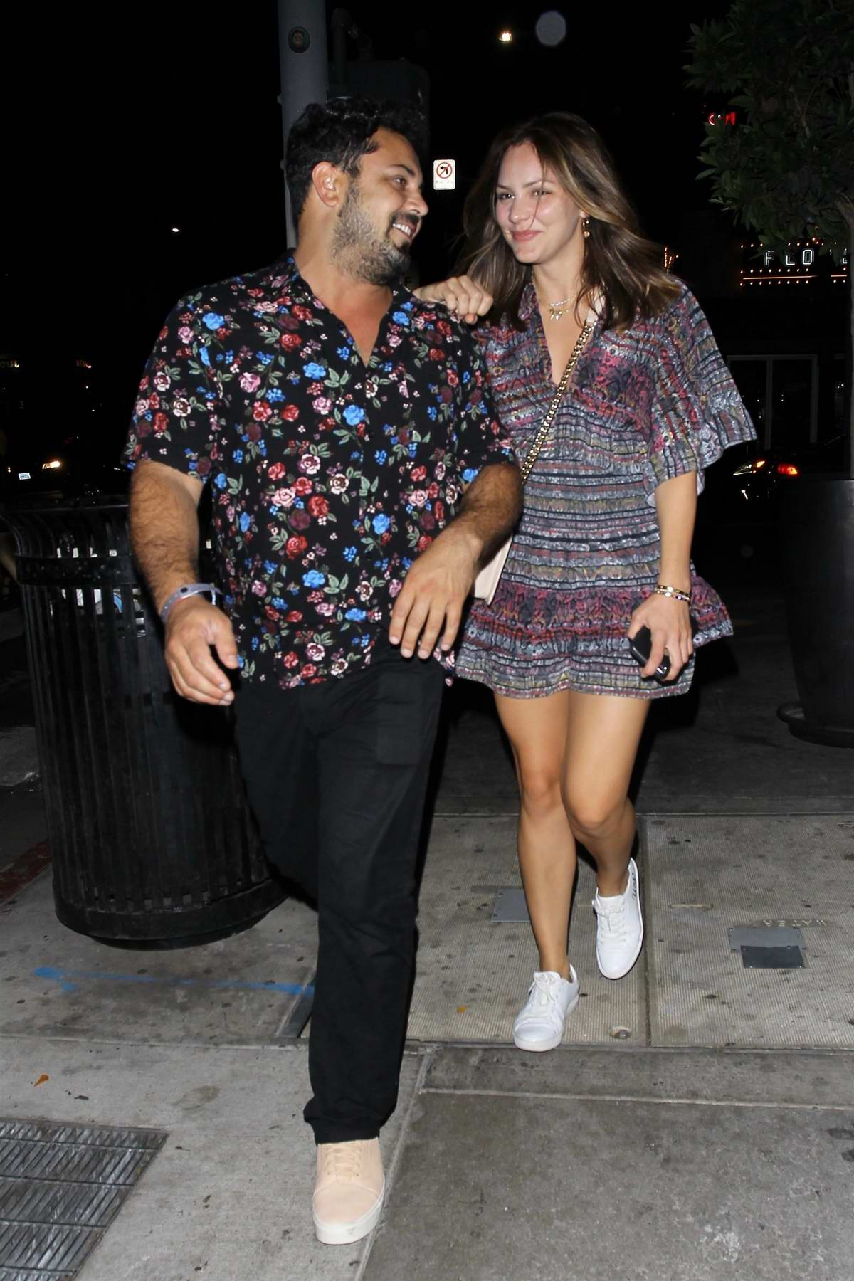 Katharine McPhee leaving the Dream Hotel with a friend in Los Angeles