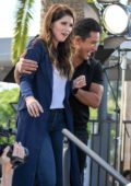 Katherine Schwarzenegger on set of EXTRA TV Show in Los Angeles
