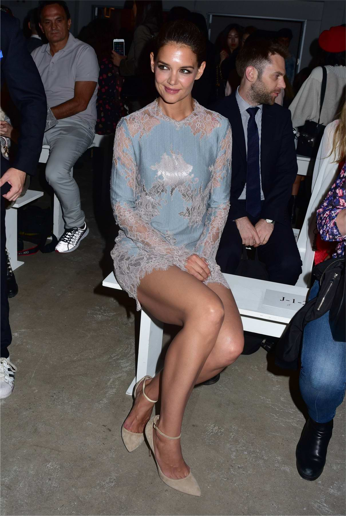 Katie Holmes at Anna Sui fashion show in New York
