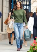 Katie Holmes out and about after shopping at Zac Posen in New York City