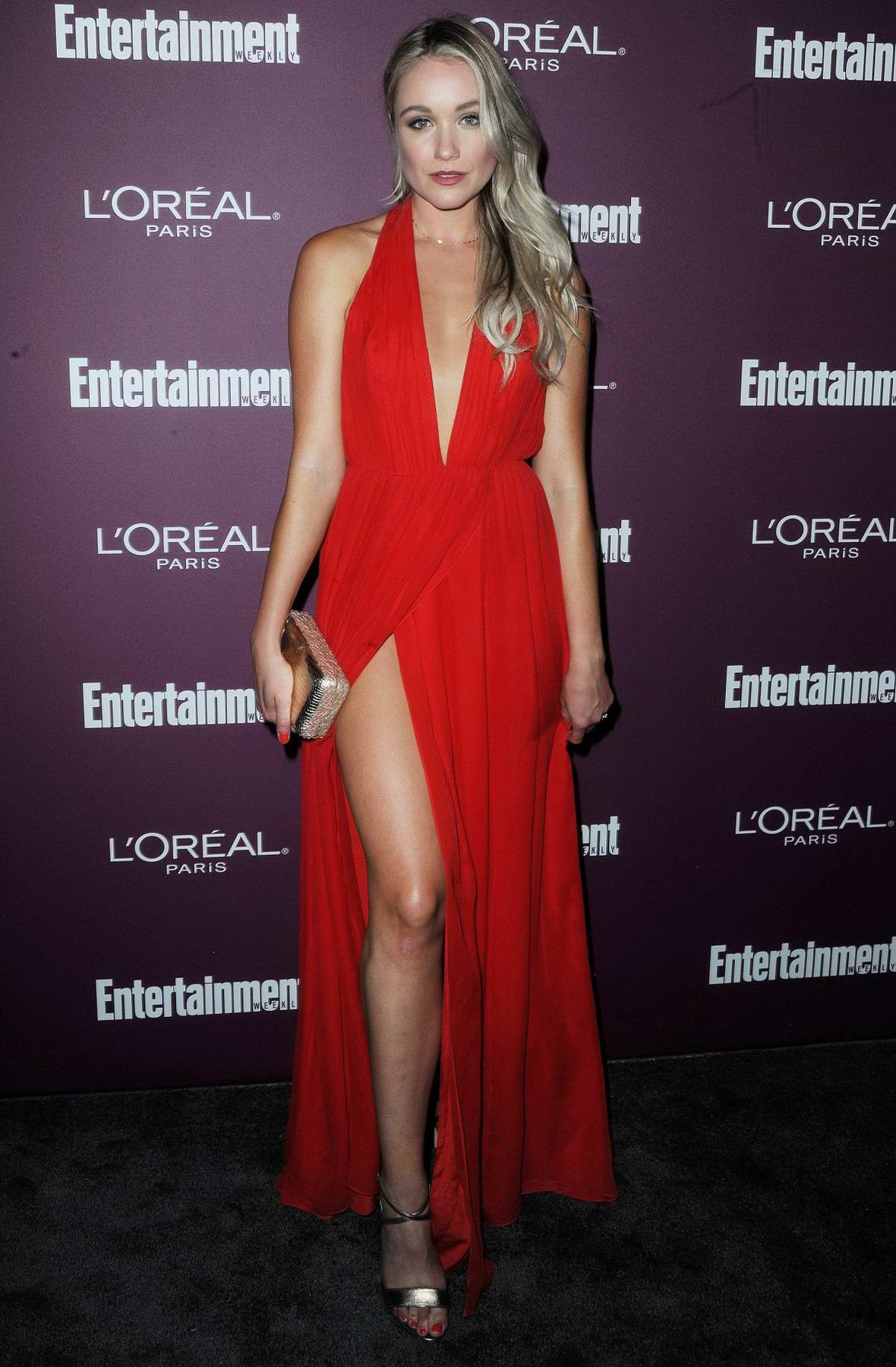 Katrina Bowden at 2017 Entertainment Weekly Pre-EMMY party in West Hollywood, Los Angeles