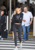 Kelly Rohrbach arrives at LAX Airport in Los Angeles